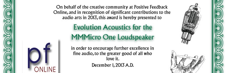 Evolution Acoustics MMMicroOnes Wins 2013 Brutus Award